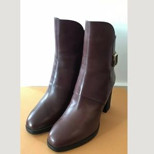 Tod's Shoes - Tod's Leather Heel Boots Size 35.5